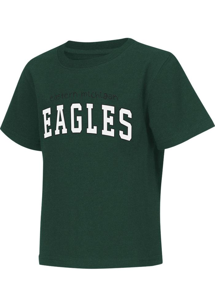 Eastern Michigan Eagles Toddler Green Rally Loud Short Sleeve T-Shirt - Image 2