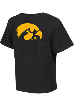 Colosseum Hawkeyes Toddler Black Rally Loud T-Shirt