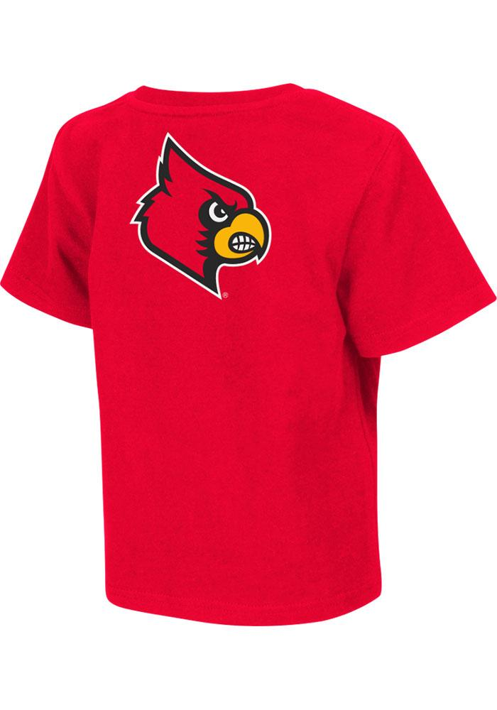 Louisville Cardinals Toddler Red Rally Loud Short Sleeve T-Shirt - Image 2