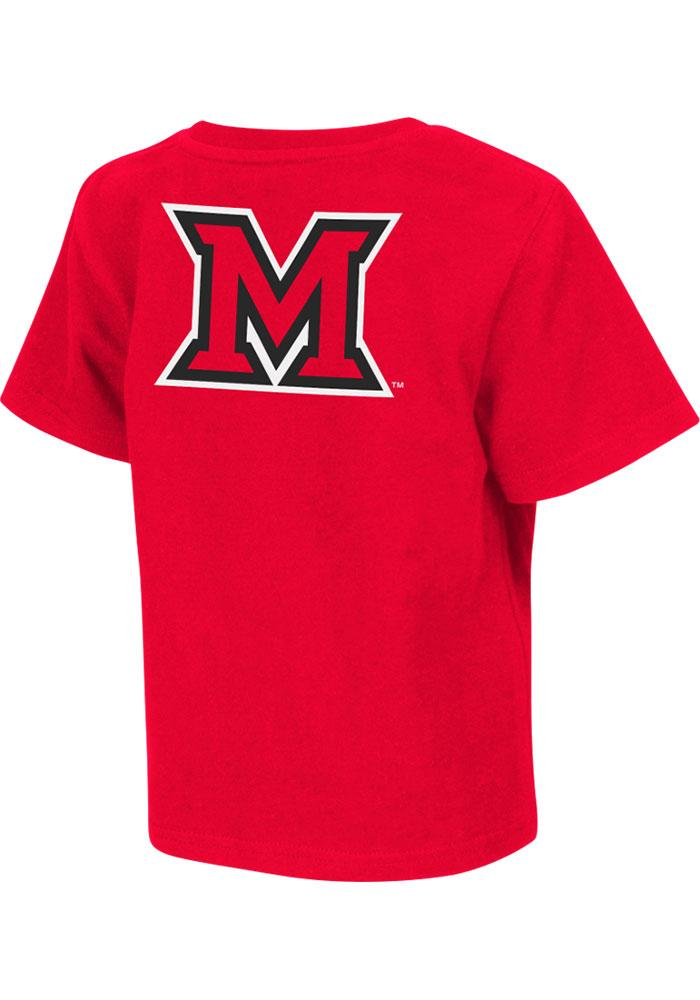 Colosseum Miami Redhawks Toddler Red Rally Loud Short Sleeve T-Shirt - Image 1