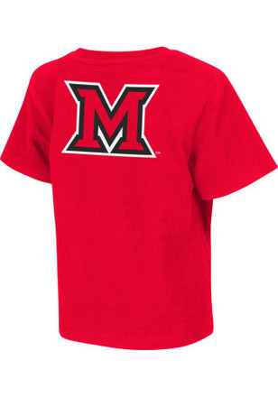 Colosseum Miami Redhawks Toddler Red Rally Loud T-Shirt