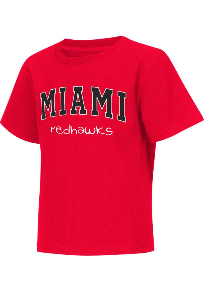 Colosseum Miami Redhawks Toddler Red Rally Loud Short Sleeve T-Shirt - Image 2