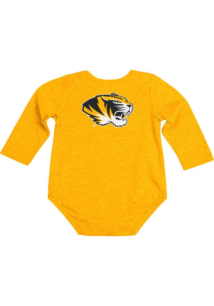 Colosseum Missouri Tigers Baby Gold Rally Loud Long Sleeve One Piece - Image 2