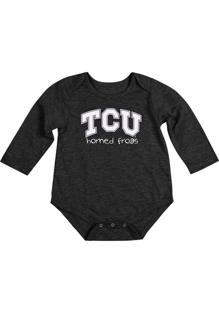 Colosseum TCU Horned Frogs Baby Black Rally Loud Long Sleeve Creeper - Image 2