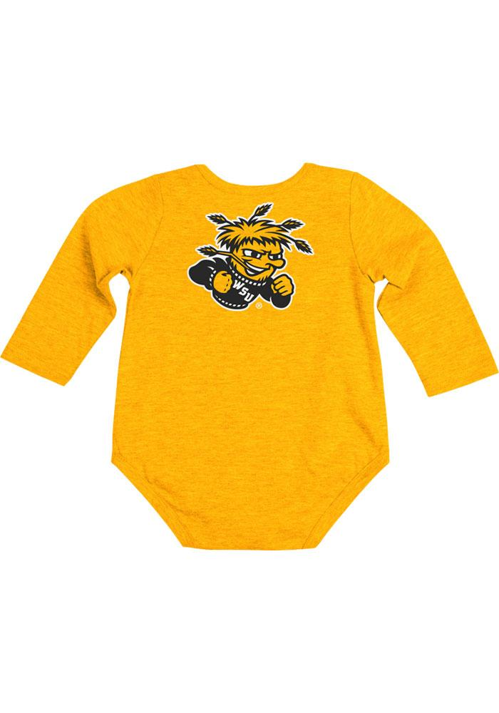 Colosseum Wichita State Shockers Baby Gold Rally Loud Long Sleeve Creeper - Image 1
