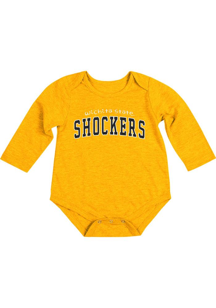 Colosseum Wichita State Shockers Baby Gold Rally Loud Long Sleeve Creeper - Image 2