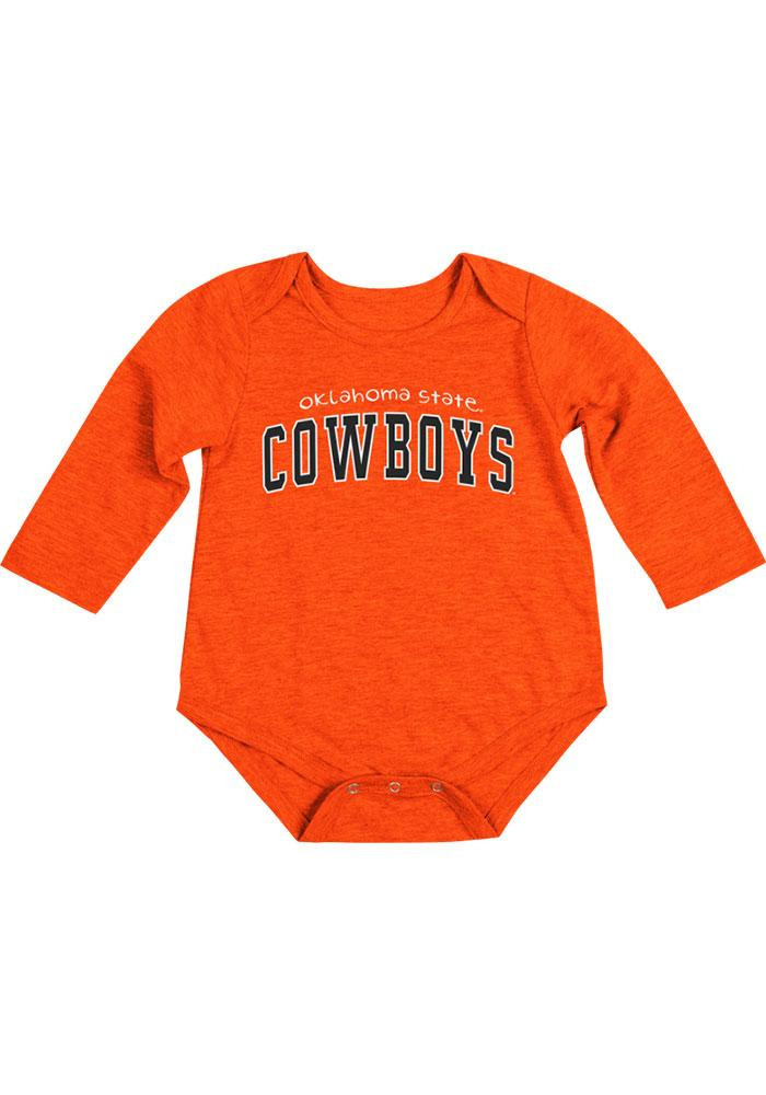 Colosseum Oklahoma State Cowboys Baby Orange Rally Loud Long Sleeve Creeper - Image 2