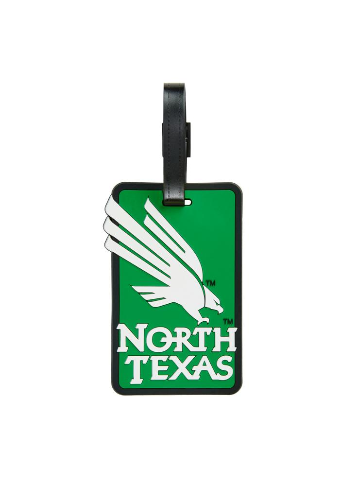 North Texas Mean Green Green Rubber Luggage Tag - Image 1