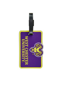 West Chester Golden Rams Rubber Luggage Tag - Purple