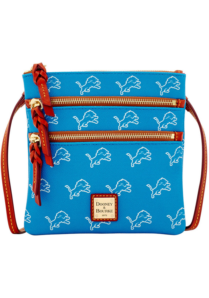 Detroit Lions Dooney & Bourke Triple Zip Womens Purse - Image 1