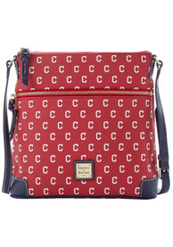 Cleveland Indians Womens Dooney & Bourke Crossbody Purse - Red