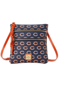 Chicago Bears Womens Dooney & Bourke Triple Zip Purse - Navy Blue