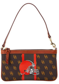 Cleveland Browns Womens Dooney & Bourke Slim Purse - Brown
