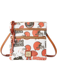 Cleveland Browns Womens Dooney & Bourke Triple Zip Crossbody Purse - Orange