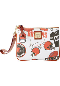 Cleveland Browns Womens Dooney & Bourke Stadium Wristlet Purse - Orange