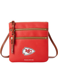 Kansas City Chiefs Womens Dooney & Bourke Triple Zip Crossbody Purse - Red