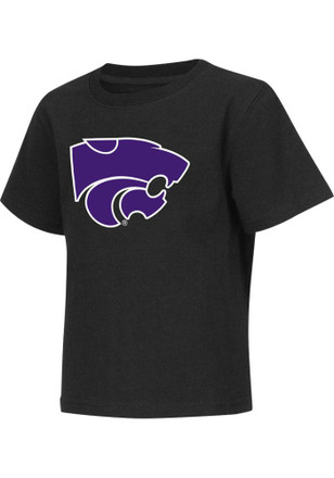 Colosseum K-State Wildcats Toddler Black Big Logo T-Shirt