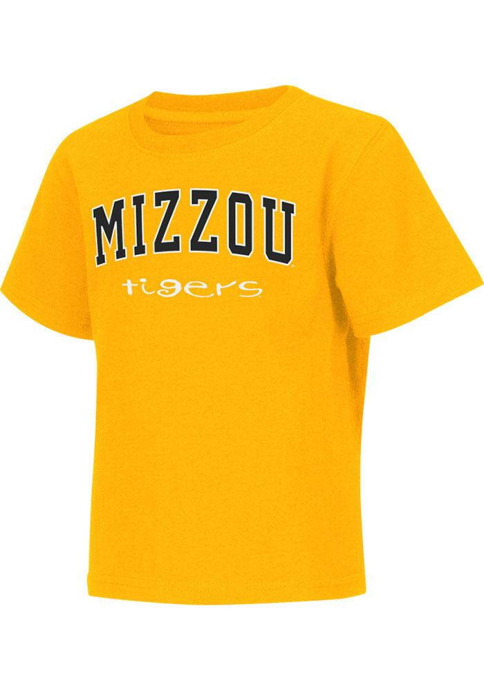 Colosseum Missouri Tigers Toddler Gold Rally Loud Short Sleeve T-Shirt - Image 1