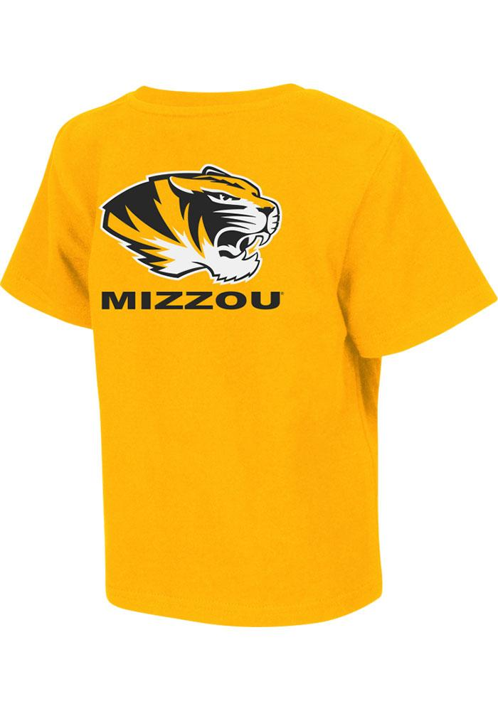 Colosseum Missouri Tigers Toddler Gold Rally Loud Short Sleeve T-Shirt - Image 2