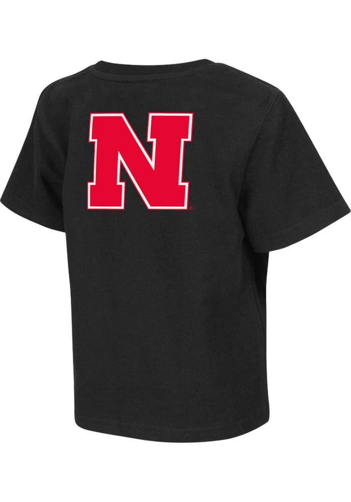 Colosseum Nebraska Cornhuskers Toddler Black Rally Loud Short Sleeve T-Shirt - Image 1