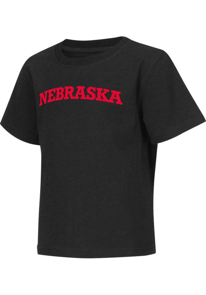 Colosseum Nebraska Cornhuskers Toddler Black Rally Loud Short Sleeve T-Shirt - Image 2