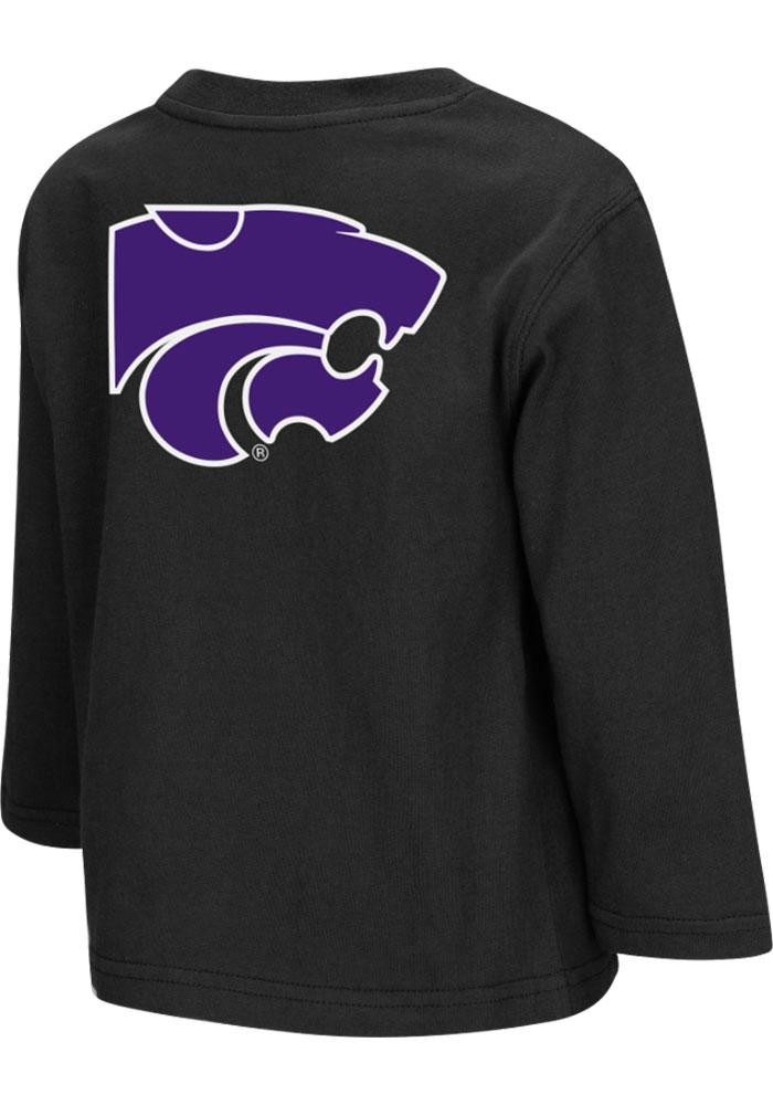 Colosseum K-State Wildcats Toddler Black Rally Loud Long Sleeve T-Shirt - Image 1