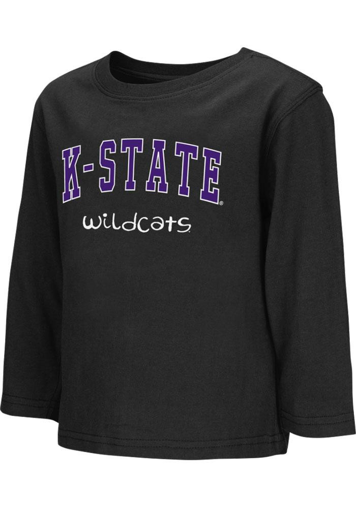 Colosseum K-State Wildcats Toddler Black Rally Loud Long Sleeve T-Shirt - Image 2