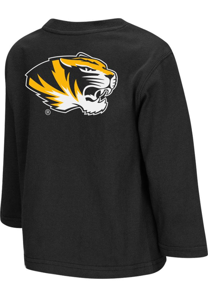 Colosseum Missouri Tigers Toddler Black Big Logo Long Sleeve T-Shirt - Image 1