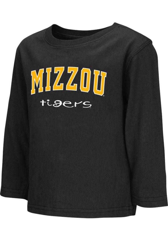 Colosseum Missouri Tigers Toddler Black Big Logo Long Sleeve T-Shirt - Image 2
