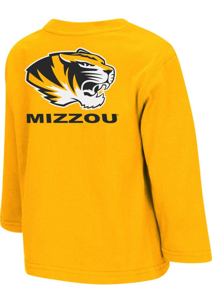 Colosseum Missouri Tigers Toddler Gold Rally Loud Long Sleeve T-Shirt - Image 1