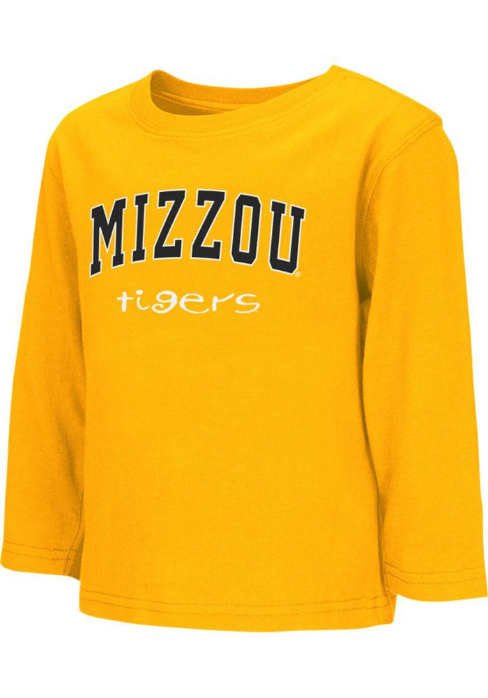 Colosseum Missouri Tigers Toddler Gold Rally Loud Long Sleeve T-Shirt - Image 2