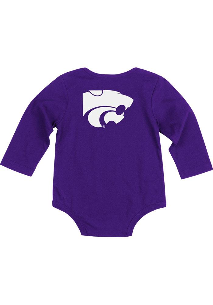 Colosseum K-State Wildcats Baby Purple Rally Loud Long Sleeve Creeper - Image 1