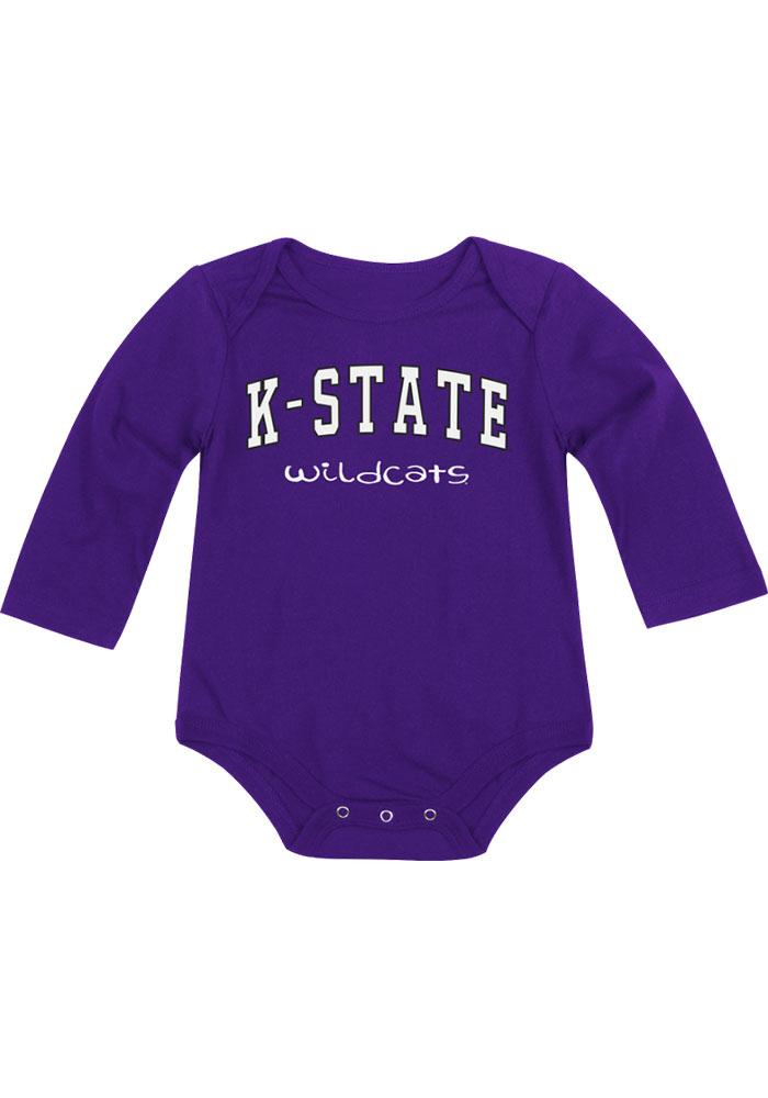 Colosseum K-State Wildcats Baby Purple Rally Loud Long Sleeve Creeper - Image 2