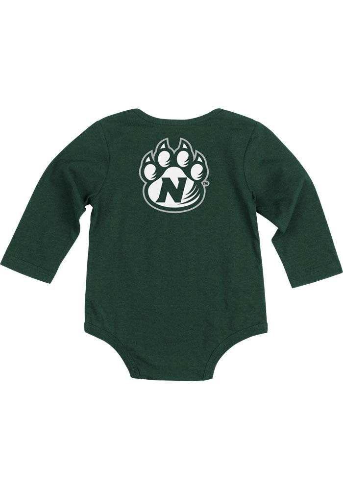 Colosseum Northwest Missouri State Bearcats Baby Green Rally Loud Long Sleeve One Piece - Image 1
