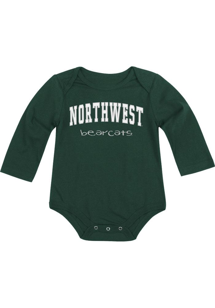 Colosseum Northwest Missouri State Bearcats Baby Green Rally Loud Long Sleeve One Piece - Image 2