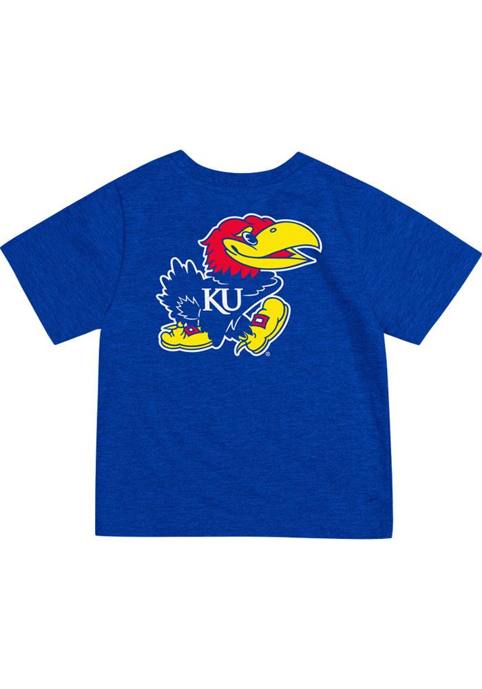 Colosseum Kansas Jayhawks Infant Arch Rally Loud Short Sleeve T-Shirt Blue - Image 2