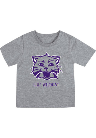 K-State Wildcats Colosseum Grey Short Sleeve Youth Mark T-Shirt