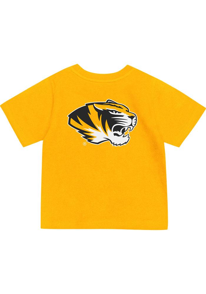 Missouri Tigers Colosseum Short Sleeve T-Shirt - Tigers Gold Mizzou Tigers Rally Loud - Image 1