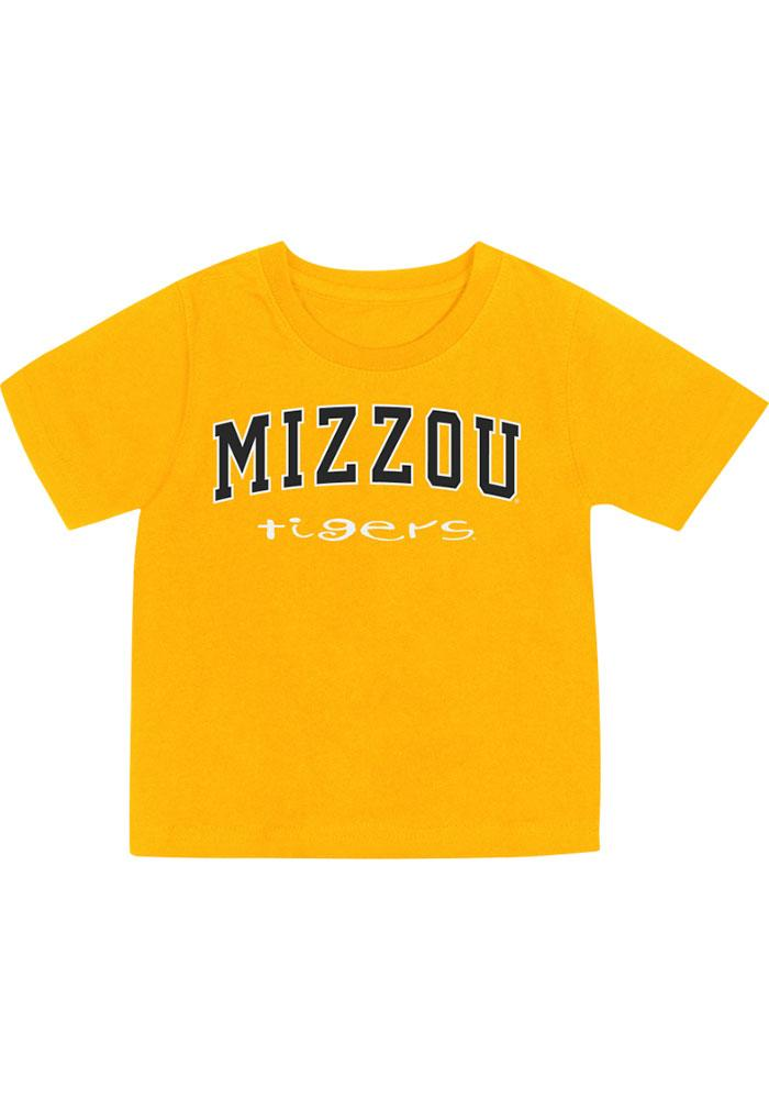 Missouri Tigers Colosseum Short Sleeve T-Shirt - Tigers Gold Mizzou Tigers Rally Loud - Image 2