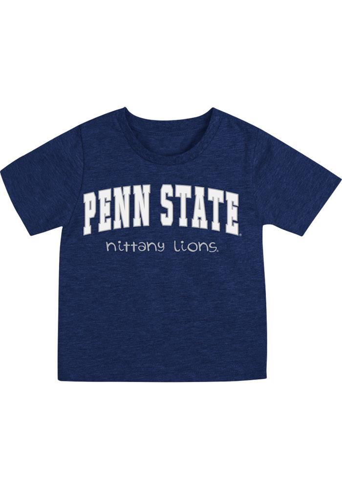 Colosseum Penn State Nittany Lions Infant Arch Rally Loud Short Sleeve T-Shirt Navy Blue - Image 1