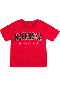 Nebraska Cornhuskers Infant Colosseum Arch Rally Loud T-Shirt - Red