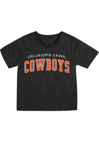 Oklahoma State Cowboys Infant Colosseum Arch Rally Loud T-Shirt - Black