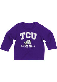 Colosseum TCU Horned Frogs Baby Purple #1 T-Shirt