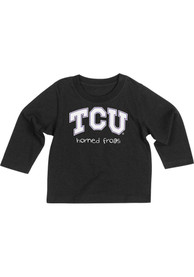 Colosseum TCU Horned Frogs Baby Black Arch Rally Loud T-Shirt