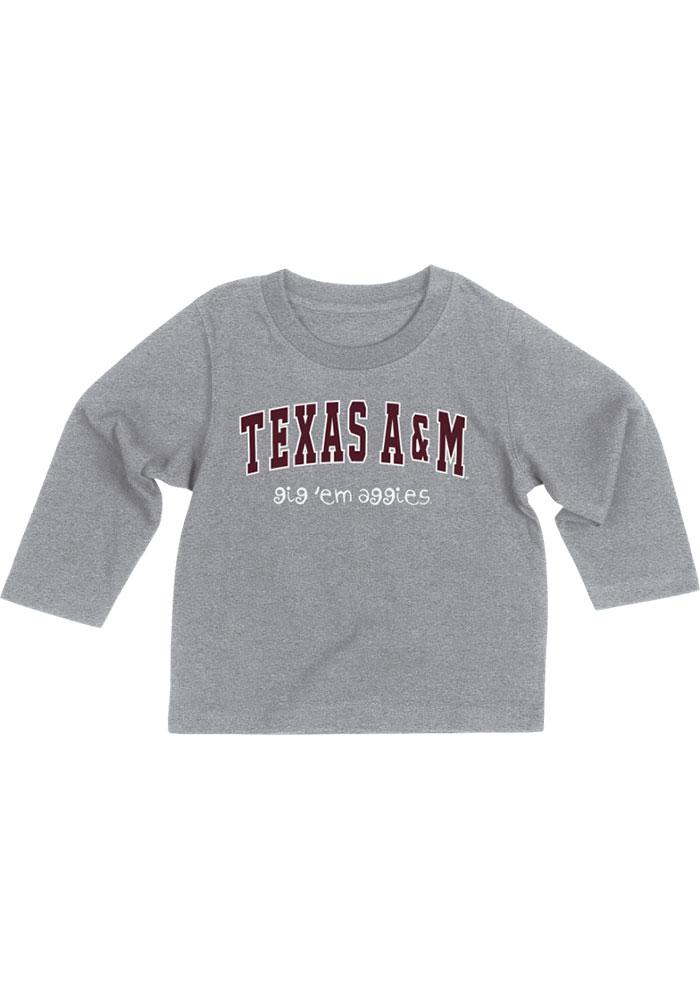 Colosseum Texas A&M Aggies Baby Grey Arch Rally Loud Long Sleeve T-Shirt - Image 3