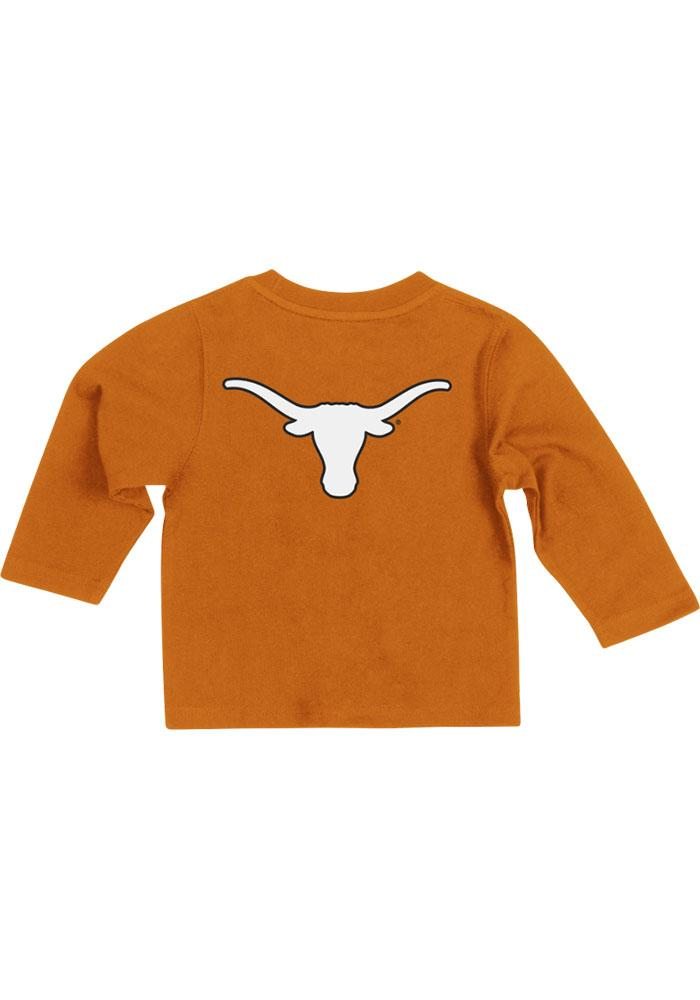 Colosseum Texas Longhorns Baby Orange Rally Loud Long Sleeve T-Shirt - Image 1