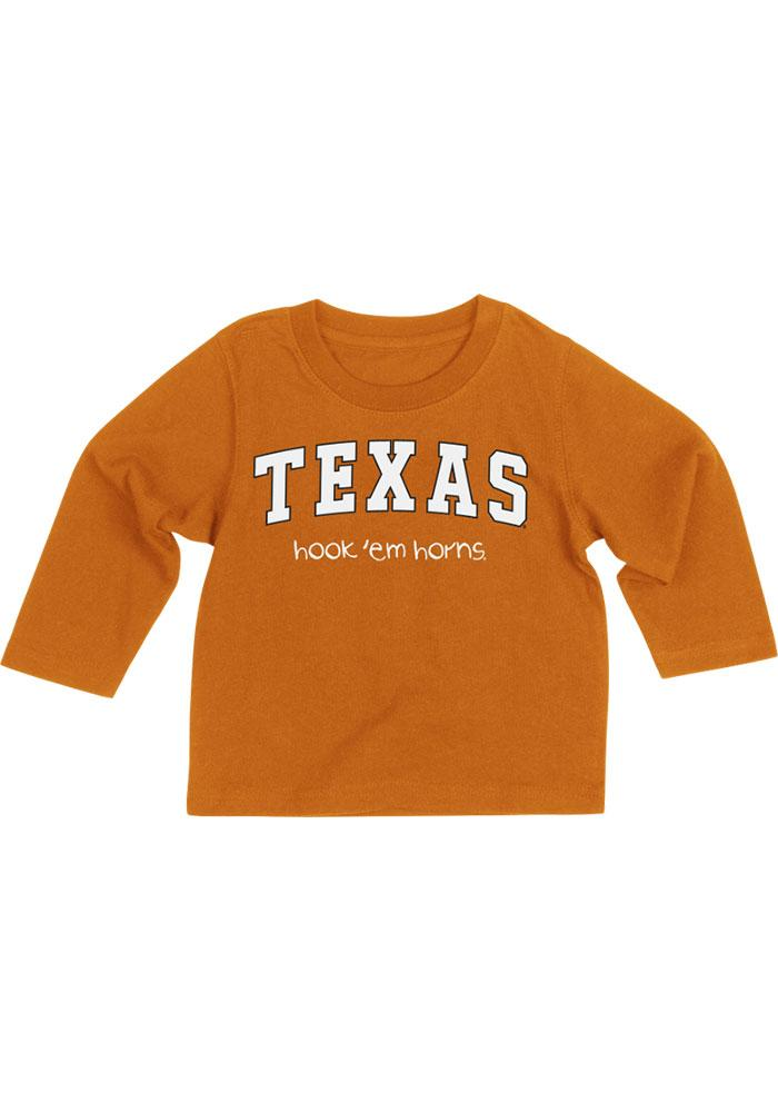 Colosseum Texas Longhorns Baby Orange Rally Loud Long Sleeve T-Shirt - Image 2