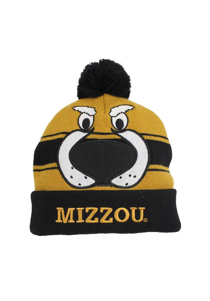 Missouri Tigers Gold Varsity Stripe Mens Knit Hat - Image 1