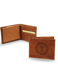 Texas Rangers Man Made Leather Bifold Wallet - Brown