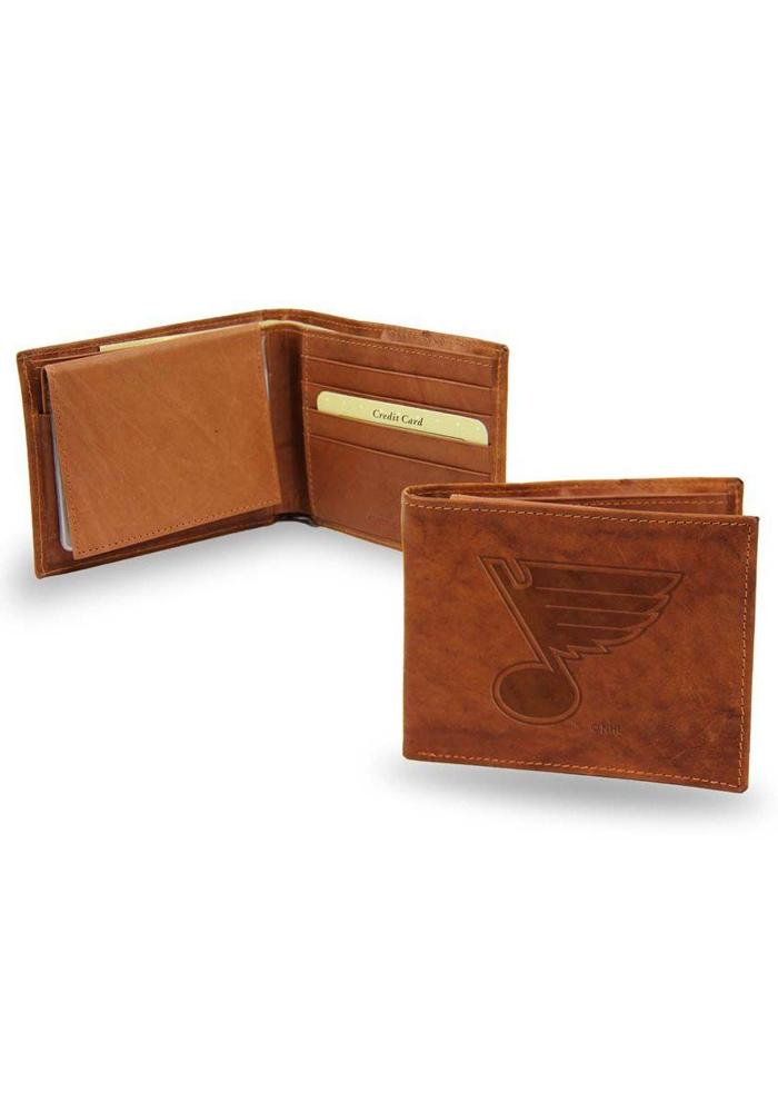 St Louis Blues Manmade Leather Mens Bifold Wallet - Image 1